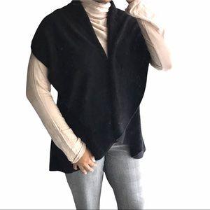 Black Open Black Sleeveless Cardigan - Size O/S